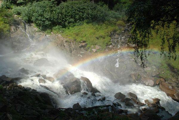Rainbow over a waterfall thumbnail