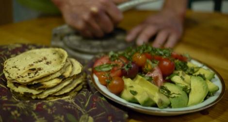 Hot, handmade corn tortillas