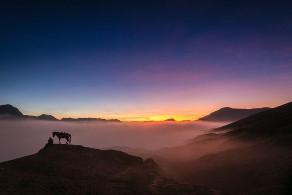 Rise of sun in Mount Bromo thumbnail