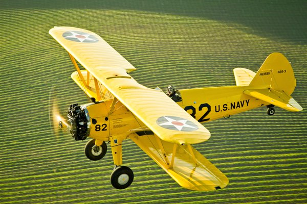 Pilot John Reed takes in the scenery over Wine Country in his 1950 Boeing Stearman. thumbnail