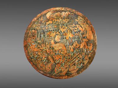 Italian artistGirolamo di Tommaso da Treviso created the ceremonial shield around 1535.