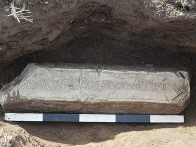 A Roman lead ingot recently unearthed in Wales