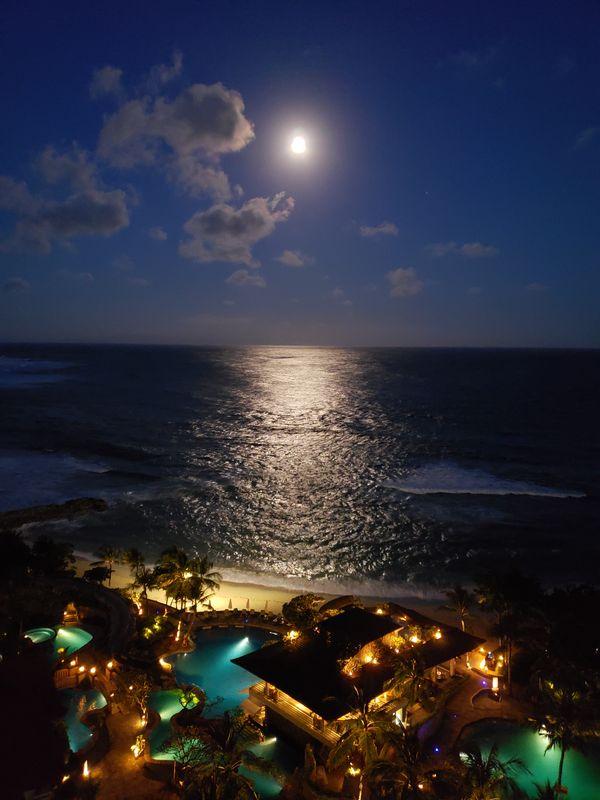 Moon over Bali Beach thumbnail