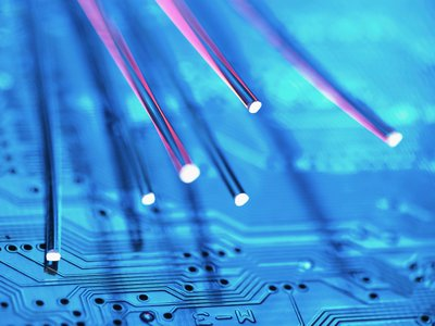 This online article is brought to you by fiber optic cables.