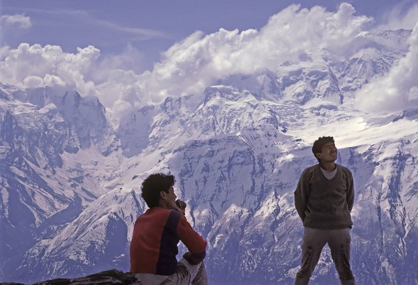 Porters at Annapurna in Nepal thumbnail