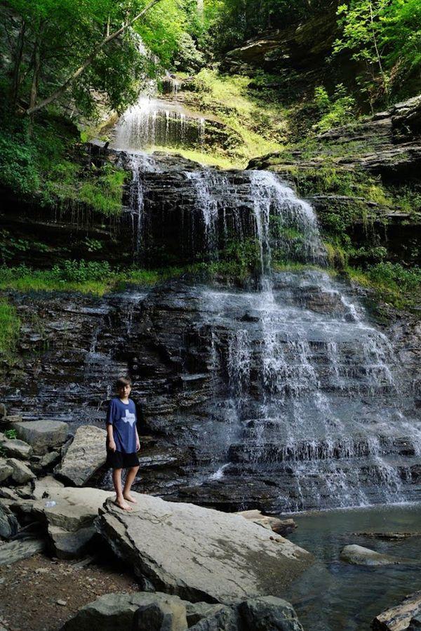 Boy at Waterfall thumbnail