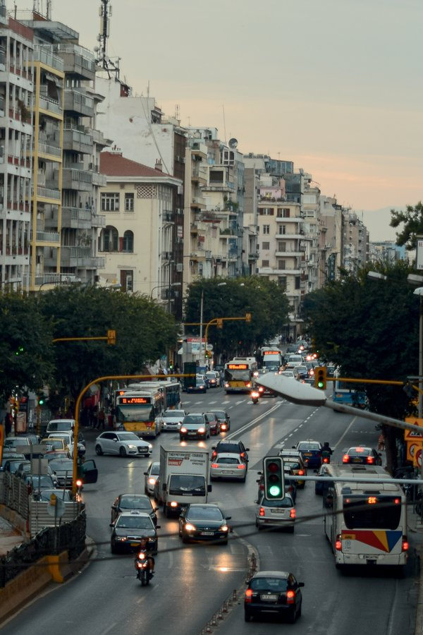 Rush Hour from Egnatia Street in Thessaloniki thumbnail