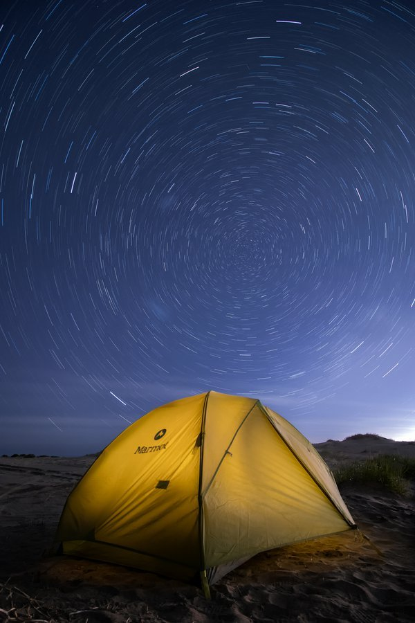 Starry night at the beach thumbnail