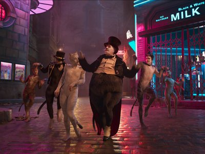 """James Corden is no common place mouser as he takes on the role of Bustopher Jones, """"The Cat we all greet as he walks down the street; his coat of fastidious black."""""""