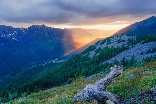 Rain and Sunset from Bandera Mountain thumbnail