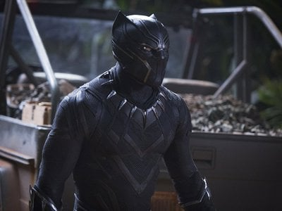 """The chevrons on the Panther's early suit, and the tessellated triangles on his later model, hint at the """"sacred geometry"""" of triangular forms common to several African cultures."""