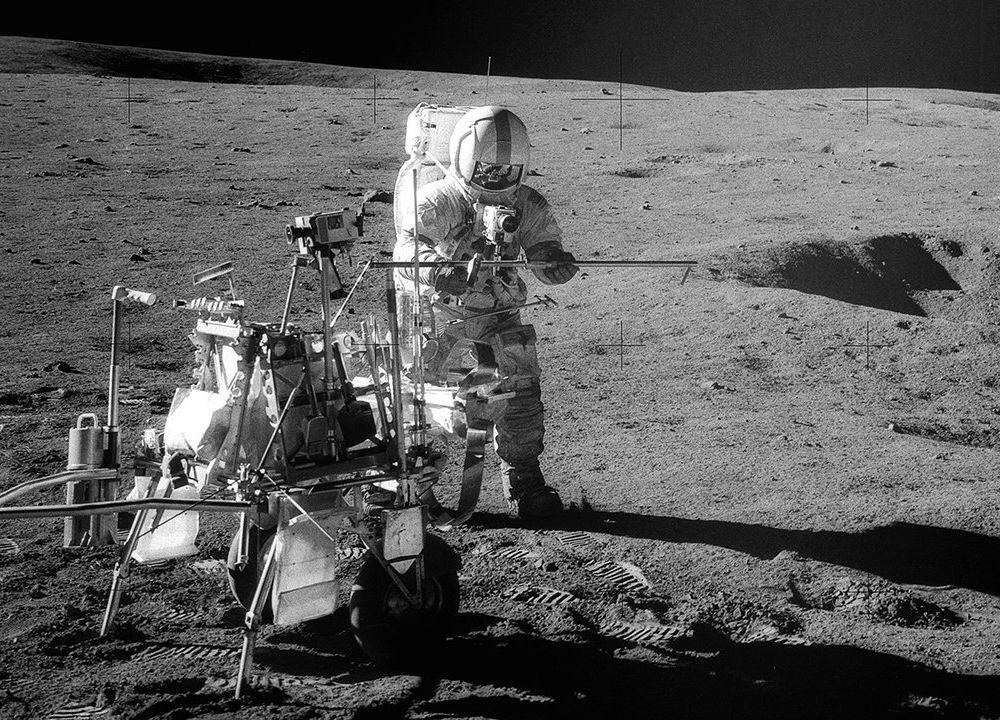Shepard on the moon