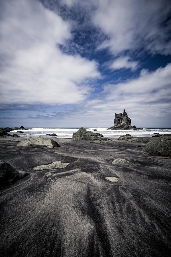 Sky, Sand, Sea and Rocks - Benijo beach, Tenerife, Spain. thumbnail