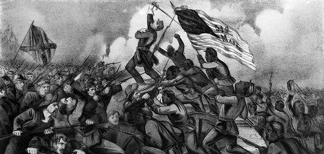 54th Mass Morris Island charge