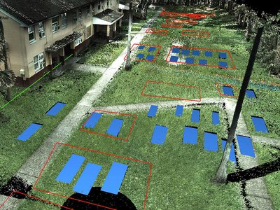 This 3-D scan shows the locations of unmarked graves that once belonged to Zion Cemetery, an African American cemetery founded in Tampa in 1901 and rediscovered last year.
