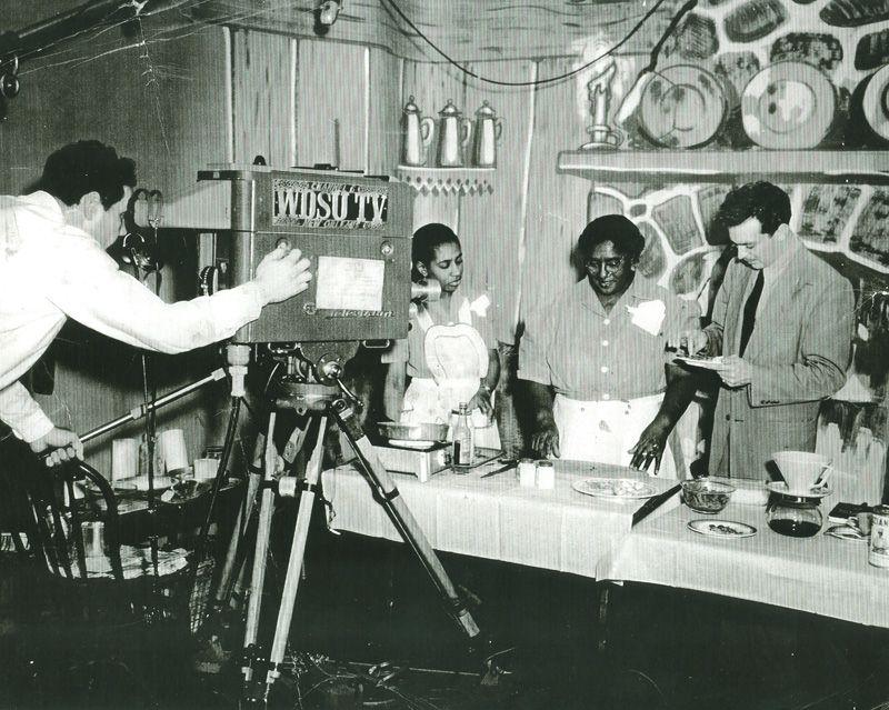Lena Richard on set