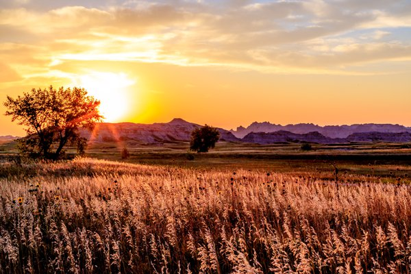 Just before sunset in the Badlands thumbnail