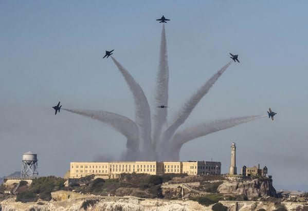 Blue Angels Over Alcatraz Island thumbnail
