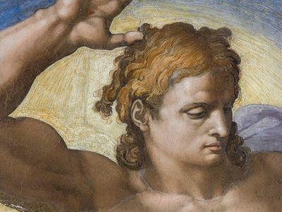 Detail of Michelangelo's The Last Judgment fresco