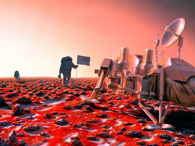 """Though the technological challenges for a future Mars mission are considerable, a proposal to """"live off the land"""" using resources on the Red Planet might dramatically simplify exploration plans."""