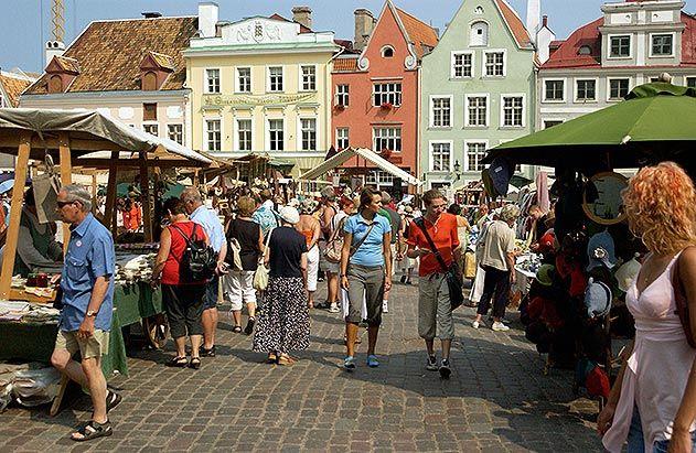 Medieval market Tallinn Estonia