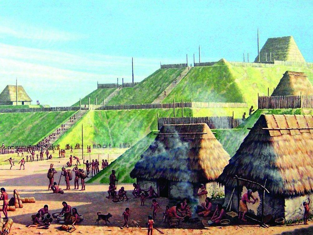 Cahokia Mounds Illustration