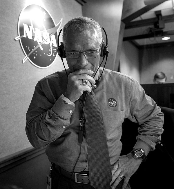 <i>NASA Administrator Charles Bolden Pauses for a Moment after Watching Orion Splashdown</i>, 2014. Bill Ingalls. NASA/Bill Ingalls.