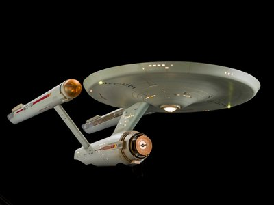 Star Trek Starship Enterprise studio model used in filming the original 1960s television series. Credit: Smithsonian's National Air and Space Museum, NASM2016-02678