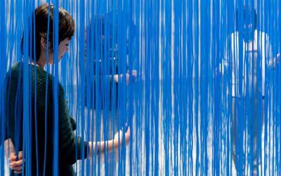"Jesús Rafael Soto, ""Blue Penetrable,"" ©2012 Artists Rights Society (ARS), New York/ADAGP, Paris."