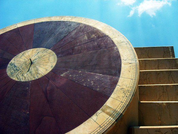 One of the largest sundials in the world at the ancient Jantar Mantar observatory in Jaipur, India. thumbnail