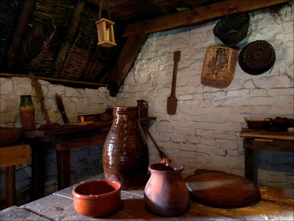 Interior of medieval house. thumbnail