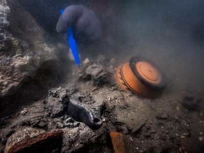Researchers excavating the sunken ruins of Thônis-Heracleion have discovered an array of archaeological treasures.