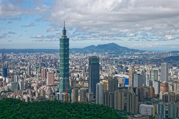 Taipei Landscape from Sishou Hills. thumbnail