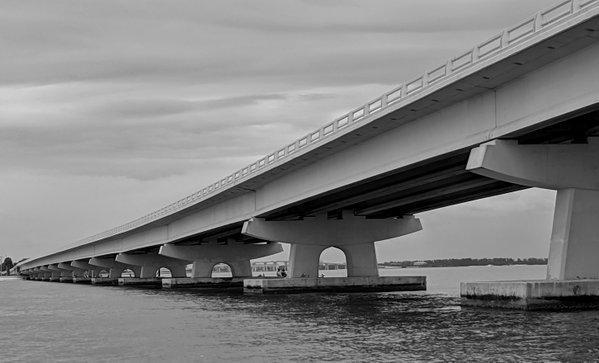 Sanibel Causeway. Perspective is from water level looking up. thumbnail