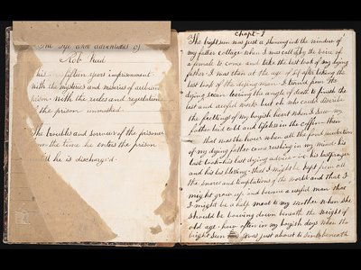Austin Reed learned to write as a juvenile prisoner. His handwritten manuscript runs 304 pages.