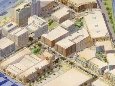 A rendering of The Brewery development in Milwaukee, WI