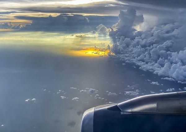 Sunset at 35,000 feet thumbnail