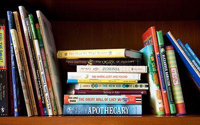 Our shelves are always full of children's books.