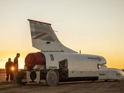 The Bloodhound supersonic car reached 628 miles per hour in 2019, but the team hopes to pass 1,000 miles per hour with the addition of a rocket