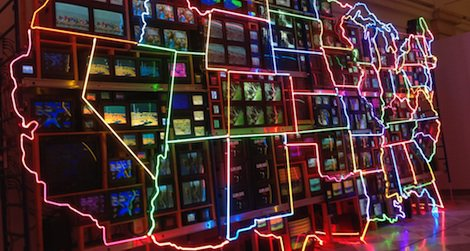 "Nam June Paik's ""Electronic Superhighway"""