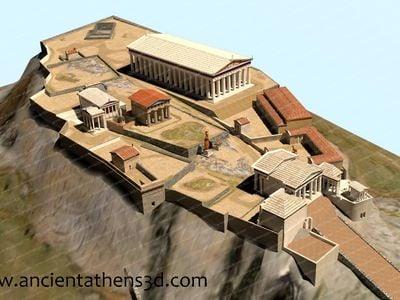 A 3-D model of Athens' classical acropolis
