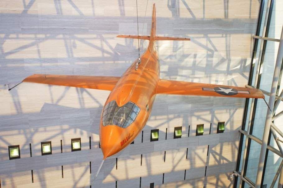 Bell X-1 hanging in Museum