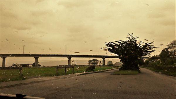 The Samoa Bridge on a rainy day. thumbnail