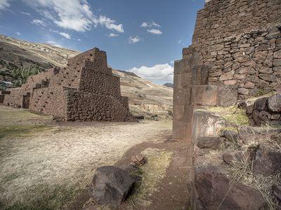Rumi Colca gateway, Cusco, Peru, 2014