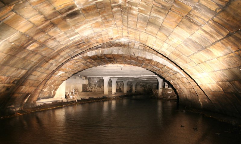 underground river and bridge
