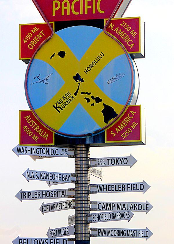 Signpost at Pearl Harbor thumbnail