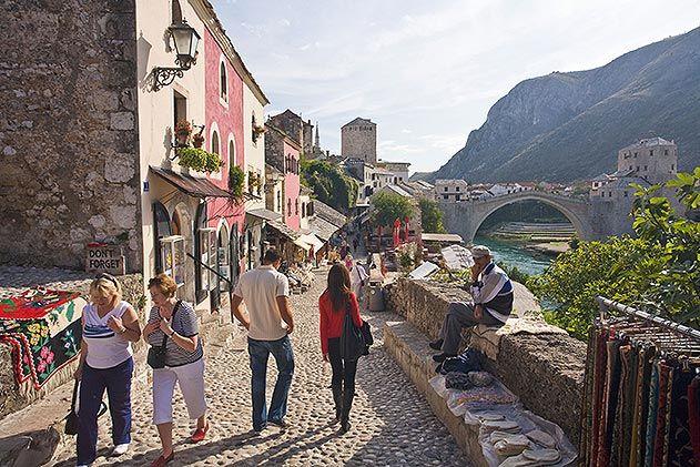 Neretva River Mostar Bosnia and Herzegovina