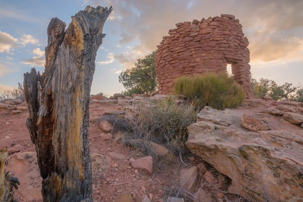 Southwestern Ruins Sunset thumbnail