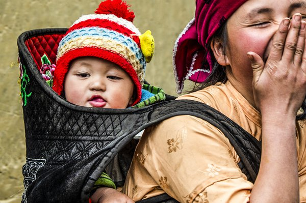 Young Mother and Son Hmong Vietnam  thumbnail