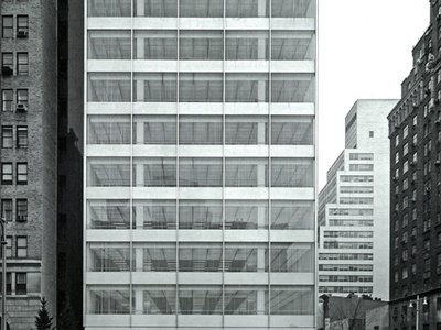 The Park Avenue facade of the Pepsi-Cola Corporation World Headquarters, designed by SOM